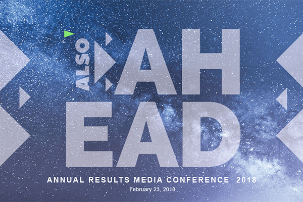 Annual Results Media Conference 2018