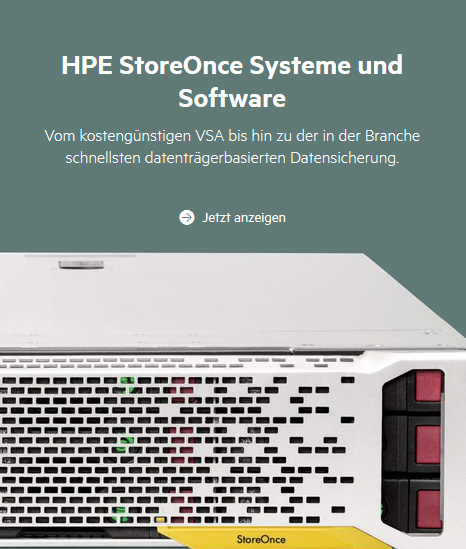 HPE StoreOnce Systeme und Software