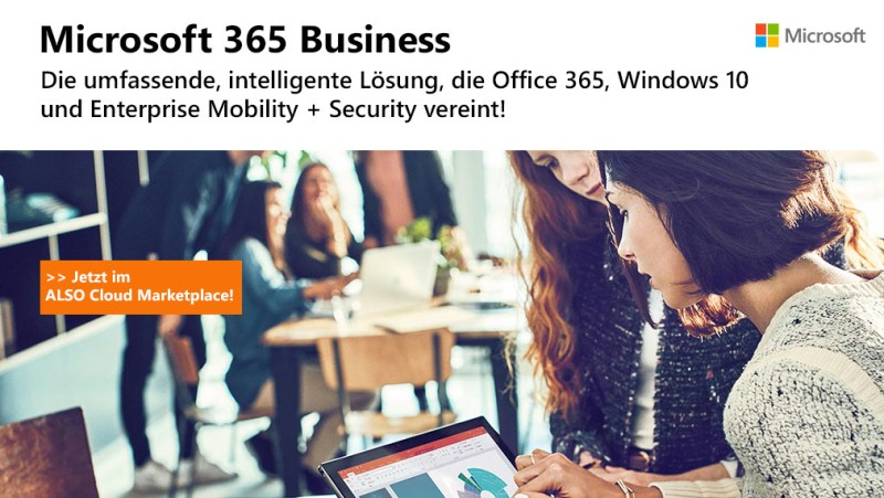 Microsoft 365 Business am ALSO Cloud Marketplace