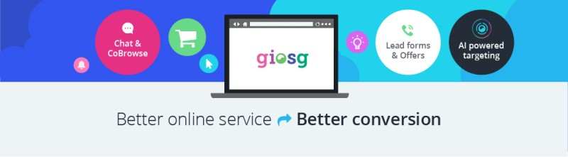Giosg tools help companies to improve their online service and conversion.