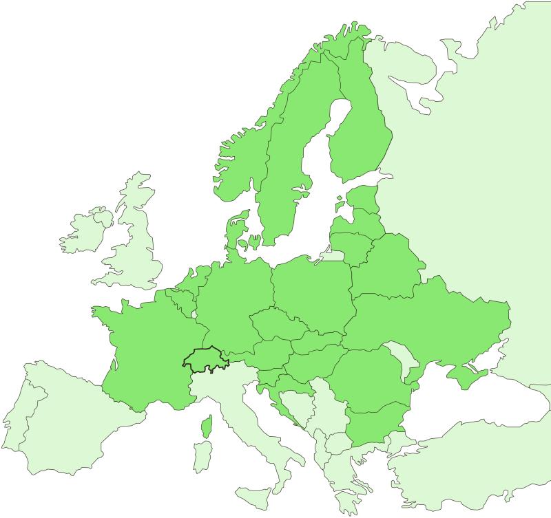 We are represented in 18 European countries.